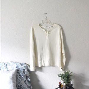 Tommy Hilfiger | Women's Cream Long Sleeve Top